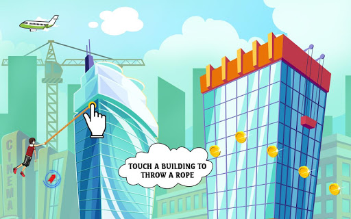Download City bounce rope hero–Free offline adventure games 1.28 APK For Android