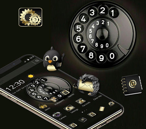 Download Black Business Delicate Telephone Theme 1.1.6 APK For Android