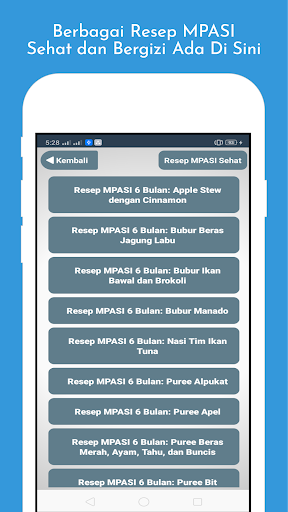Download Resep MPASI Bayi 6-12 Bulan - Resep MPASI Anak 2.5 APK For Android