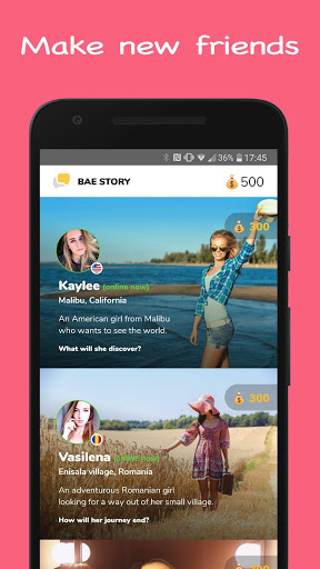 Download Bae Story Interactive Tap, Text and Chat Game 2.13 APK For Android