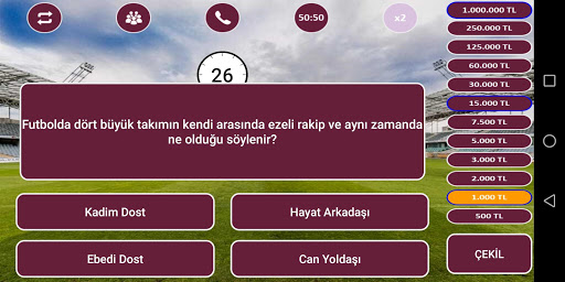 Download Milyoner Futbol Bilgi Yarışması 1.0.04 APK For Android