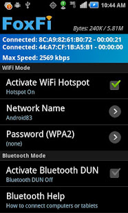 FoxFi (WiFi Tether w/o Root) 217k
