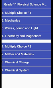 Grade 11 Physical Science Mobile Application 1.1