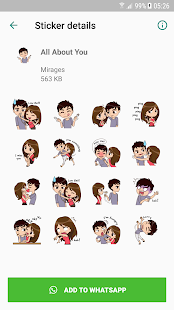 Love Story Stickers - WAStickerApps 1.0