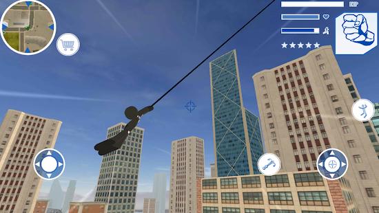 Panther Stickman Rope Hero spider Crime Battle 1.0