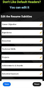 Resume builder Free CV maker templates formats app 9.14