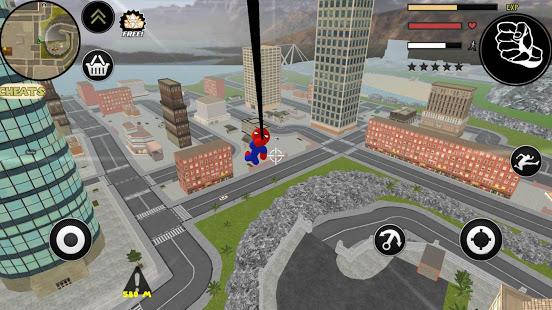 Spider Stickman Rope Hero Gangstar Crime 4.0