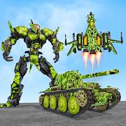 US Army Robot Transformation Jet Robo Car Tank War 1.7