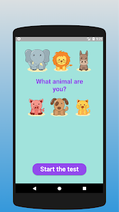 What animal are you? Test 1.1