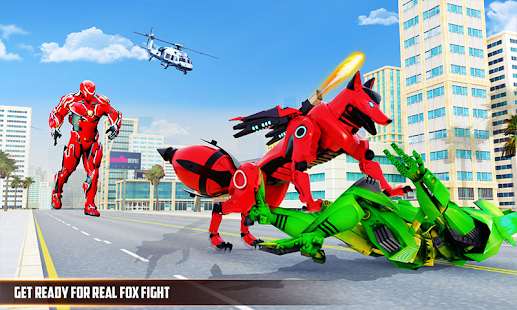 Wild Fox Transform Bike Robot Shooting: Robot Game 5