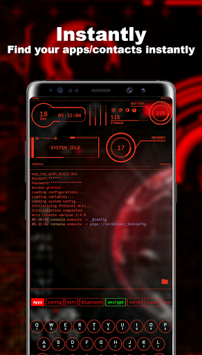 Download Hacker Launcher -- Aris Theme 3.1.6 APK For Android