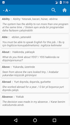 Download YDS Kelimeler/Örnek Cümleler 1.3.3 APK For Android