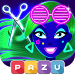 Download Girls Hair Salon Glow - Hairstyle games for kids 1.07 APK For Android