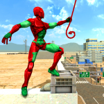 Download Mutant Spider Rope Hero : Flying Robot Hro Game 1 APK For Android