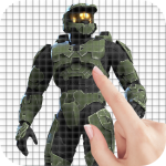 Download Video Game Characters Color by Number - Pixel Art 1.3 APK For Android