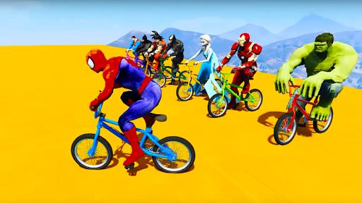 Download Superhero Bmx Racing Simulator game 1.2 APK For Android