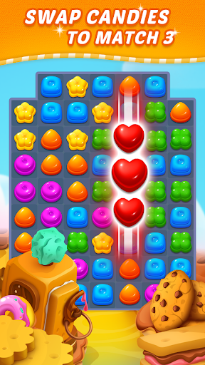 Download Sweet Candy Puzzle: Crush & Pop Free Match 3 Game 1.81.5009 APK For Android