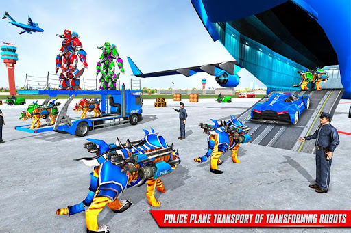 Download US Police Tiger Robot Game: Police Plane Transport 1.1.2 APK For Android