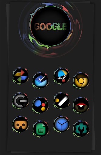 Download Black Army Omni - Icon Pack - Fresh dashboard 40.0 APK For Android