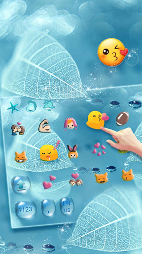 Download Blue Waterdrop Keyboard Theme 10002000 APK For Android