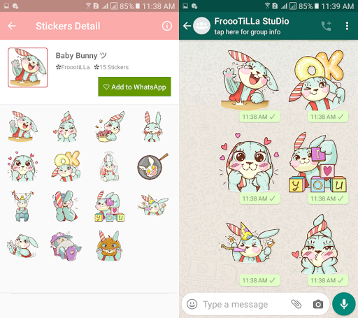 Download 🐰Cute Bunny Stickers Pack - WAStickerApp 1.4 APK For Android