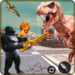 Download Angry Gorilla Fighting Dinosaur Destruction 2019 1.0.1 APK For Android