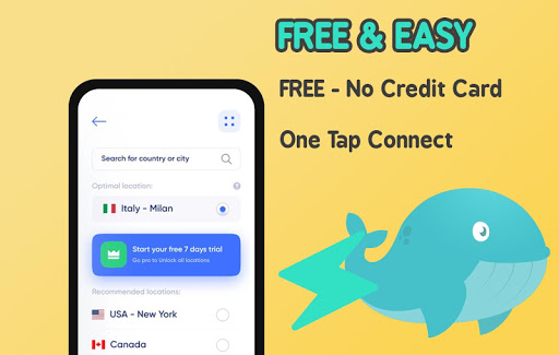 Download Free VPN Whale Unlimited Secure Hotspot VPN Proxy 1.0.5 APK For Android