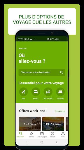 Download Go Voyages: Réserver des vols et voyages pas chers 4.170.0 APK For Android