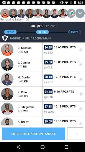 Download LineupHQ: FanDuel Lineups 1.8.9 APK For Android
