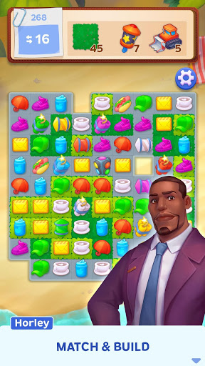Download Match Town Makeover: Your town is your puzzle 1.5.601 APK For Android