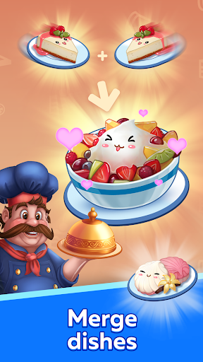 Download Merge Food — Idle Food Tycoon: Arcade Cooking Game 1.3.2 APK For Android