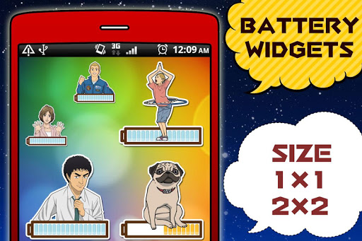 Download Space Brothers Battery Widget 3.0.3.15 APK For Android