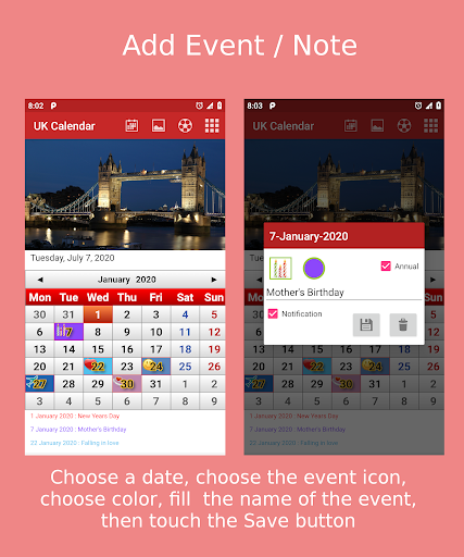 Download UK Calendar 2020 2.11 APK For Android