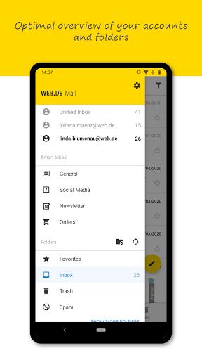 Download WEB.DE Mail & Cloud 6.17.2 APK For Android