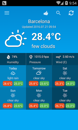 Download Weather Spain 1.0.2 APK For Android