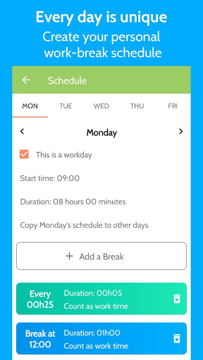 Download Work Break - Break Reminder, Timer and Scheduler 2.0.3 APK For Android