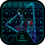 Blue Neon Keyboard Theme 1.0 APK For Android