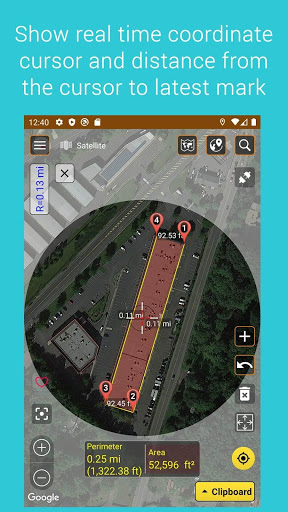 Download Measure map V2 1.06 APK For Android