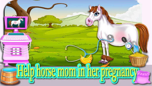 Download pregnant mom horse and her little baby 2 APK For Android