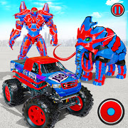 Download Flying Monster Truck Transform Elephant Robot Game 2.0.4 Apk for android