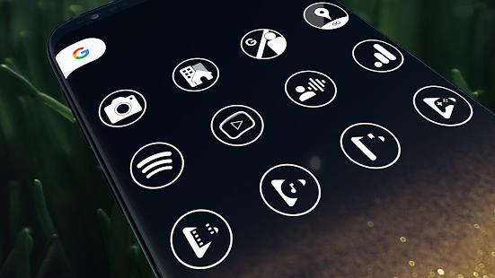 Download Monoic Icon Pack: White, Monotone, Minimalistic 6.4.6 Apk for android