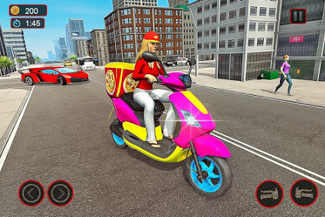 Download Moto Bike Pizza Delivery – Girl Food Game 5.0 and up Apk for android