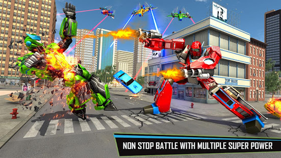 Download Drone Robot Car Game - Robot Transforming Games 1.2.4 Apk for android