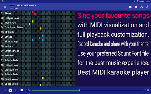 Download MIDI Clef Karaoke Player 4.0.4 Apk for android
