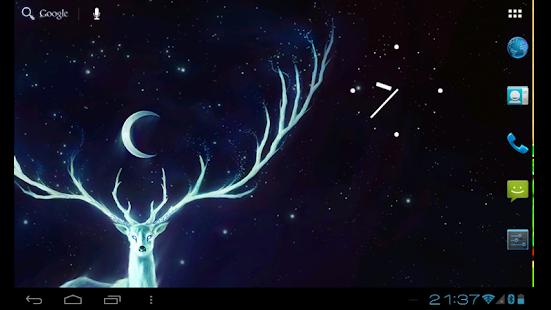 Download Night Bringer : Magic glowing deer live wallpaper 3.1.1 Apk for android