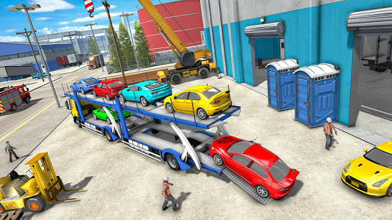 Download Truck Car Transport Trailer Games 1.10 Apk for android