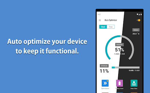 Download Auto Optimizer [Trial] - Booster , Battery Saver 10.0.7 Apk for android
