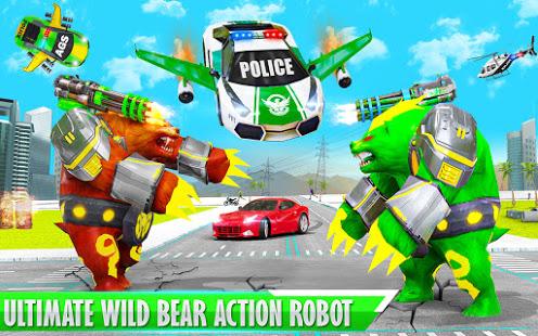 Download Bear Robot Car Transform: Flying Car Robot Games 16.12 Apk for android