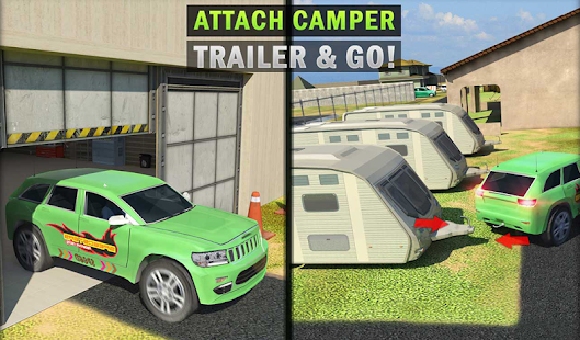 Download Camper Van Truck Simulator: Cruiser Car Trailer 3D 1.13 Apk for android
