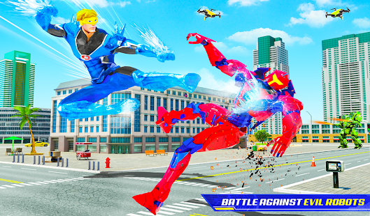 Download Flying Police Robot Snow Storm Hero: Crime City 8.0.0 Apk for android